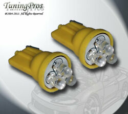 1 Pair Set Of 2 Pcs Ignition Switch T10 Wedge 3 Amber Led Light Bulbs 168 161
