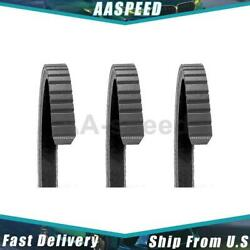 3x Accessory Drive Belt Fan Dayco Dayco For 1981-1983 Ford Cl9000