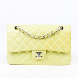 Chanel Bag Double Flap Medium Green Quilted Lambskin CC $3015.00