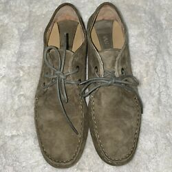 Vaneli Olive Green Womens Shoe With Laces Size 10 Us