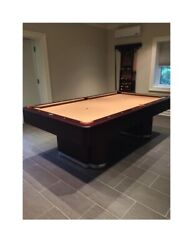 Olhausen Plaza 8 Pool Table -cues And Cue Wall Storage Incl.- Excellent Condition