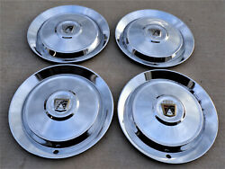 1952, 1953 Ford Used Accessory Large Hubcaps, 4 Wheel Covers.
