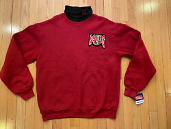 Vintage Green Bay Packers Mock Turtle Neck Sweatshirt Majestic Usa Made L Nwt