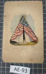 Rare Vintage 1863 Civil War Valentineand039s Day Card Ae-93