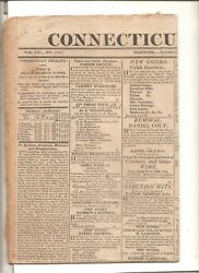 5/6/1817 Issue Of The Connecticut Courant, Hartford, Ct