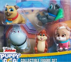 New 8 Pc Puppy Dog Pals Disney Jr Toy Set Rolly Bingo Cagey Cake Topper Toppers