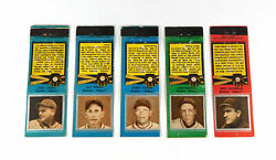 Lot Of 5 Different 1930's Diamond Matchbooks All Dodgers