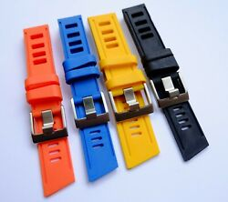 Quality Vintage Style Rubber Dive Strap/band For Diver/diving Watch/watches