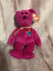Original Retired Millenium Beanie Baby W/ Misspelled Name All Tags And Pe Pellet