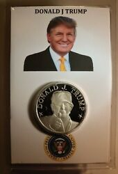 Donald J Trump Silver 1 Oz Proof Quality In Plastic Holder