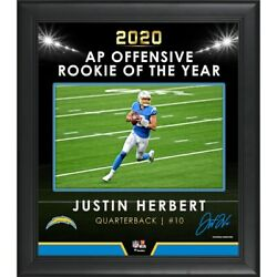 Justin Herbert Los Angeles Chargers 2020 Oroy Framed 15 X 17 Collage