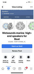 Wet Sounds Marine Speakers And 2 Hertz 10 Inch Subs