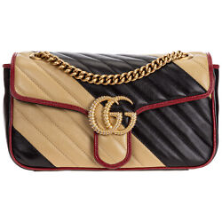 Shoulder Bag Women Marmont 443497 520981 Black Small Leather Suede Lining