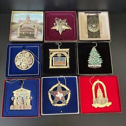 Lot Of 9 Texas State Capitol Ornaments 1996 1998 2001 2003 2008-2010 2015 2016