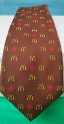 Vtg Mcdonalds Manager Neck Tie Brown Arch Red Star Consort 1976 B92