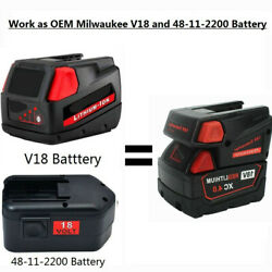 18v Batteries Adapter Converter Use W/ Milwaukee M18 18-volt Lithium-ion Battery