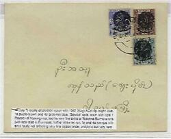 Japanese Occupation Of Burma July Local Cover With 1942 May Kgvi 6d Peacock