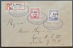 Gri On German New Guinea Colonies Sg 33 Fdc Plus Sg 3-4 Lovely Cancels