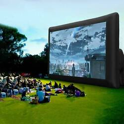 16 22FT Inflatable Movie Projector Screen Projection Outdoor Home Theater Blower