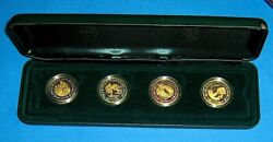 Set Of 4 Olympic 2000 Gold Coins Gold Pictogram Set Scarce With Certificate Nice