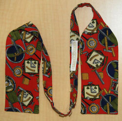 Carrot And Gibbs Red W/ Mechanical Toy Print 3 Silk Bow Tie