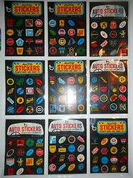 1970 Way Out Wheels Complete22 Sticker Set + Wrapper Topps