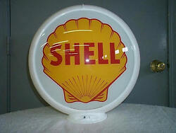 Gas Pump Globe Shell Reproduction 2 Glass Lens In A Plastic Body New