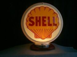 Gas Pump Globe Shell And Light Stand New Reproduction 2 Glass Lens