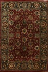 All-over Floral Agra Oriental Area Rug Hand-knotted Traditional Carpet 10and039x14and039
