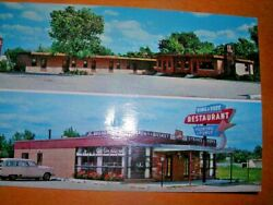 Vintage Postcard Motel Northlake And Ding And Fuzz Restaurant And Lounge Northlake Il