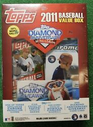 2011 Topps Baseball Sealed Value Box 5 Update +1 Bowman Chrome Mike Trout 🔥👀