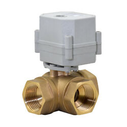 Dn25 Three Way 1 Inch Ac/dc9-24v Brass Motorized Ball Valve With Instructions