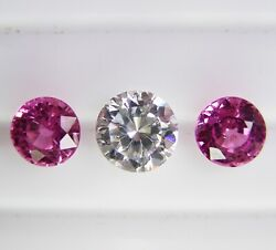 1.79ct Pink Ceylon Sapphires Natural Colour -matching Pair+certificate Included
