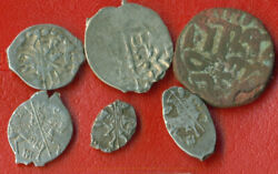 Russia Golden Horda Silver Wire 14-17 Th Ca 1380-1645 Lot Of 6 Coins 81