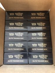 Case Of 10 Sealed Pokemon Shining Fates Elite Trainer Boxes--in Hand Ships Now