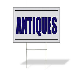 Weatherproof Yard Sign Antiques Promotion Business White Lawn Garden
