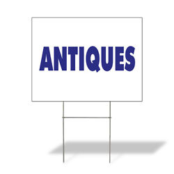 Weatherproof Yard Sign Antiques Outdoor Advertising Printing A White Lawn Garden