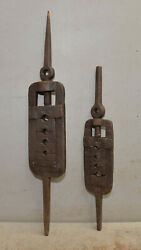 2 Spectacular Blacksmith Forged Die Wrench Thread Chaser Antique Collectible