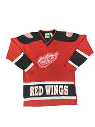 Vintage Detroit Red Wings Hockey Jersey Athletic Knit Small