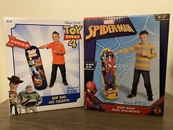 🟢 Combo Spider-man + Toy Story 4 Bop Bags 2 Pack 36in/90cm Tall Each Age 4+