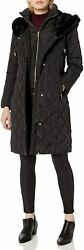 Cole Haan Womens Diamond Quilted Taffeta Down Coat