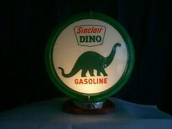 Gas Pump Globe Sinclair And Light Stand New Reproduction Glass Lenes