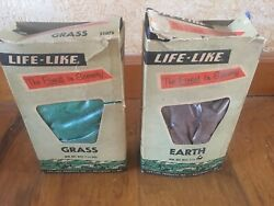 Vintage Life-like Grass And Earth The Finest In Scenery Model Train Accessories