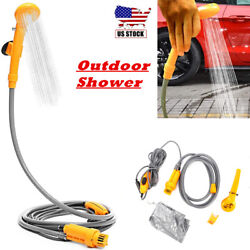 Portable Outdoor Shower Kit 12v Handheld Camping Showers With Water Pump Cable