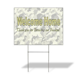 Weatherproof Yard Sign Welcome Thanks For Protecting Freedom Lawn Garden