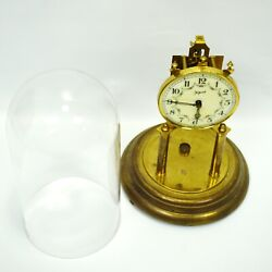 Clock John Wanamaker Mantel Clock Glass Dome Made In Germany For Parts