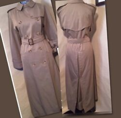 Grenfell Finchley2 Tan Trench Coat Cotton Liner Adj Belt And Sleeves Pre-owned