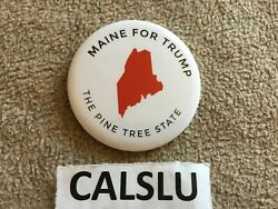 2016 Donald Trump ☆maine For Trump☆ Official ☆campaign☆ White Pin Back Button
