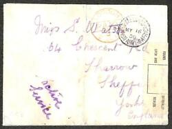 South Africa To Uk Bloomfontein Army Po Boer War Type 2 British Seal Cover 1900