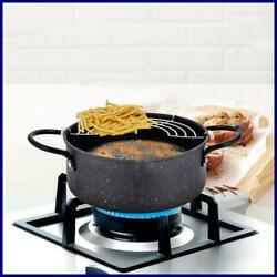 Frying Pot Portable Deep Fryer Pan With Basket Fried Chicken Pots Household Cook
